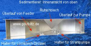 Goldblitz Sedimentierer